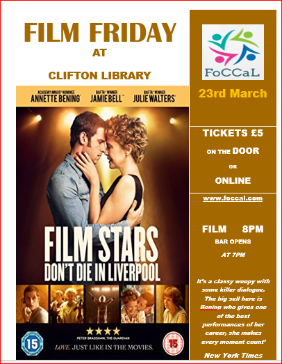 Film Friday: Film Stars Don't Die In Liverpool - Friends of Clifton Centre  and Library